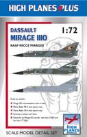 High Planes Plus Mirage IIIO Recce Detail Set Accessories 1:72