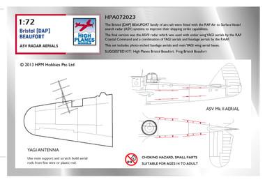 High Planes Beaufort ASVII & Yagi Antennae