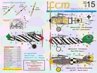 FCM WWI Albatros D.III/D.V Jasta 1, 5, Boelcke Decals 1:32