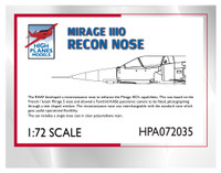 High Planes Mirage IIIO Recon Nose 1/72