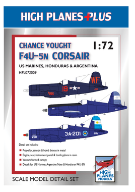 High Planes Chance Vought F4U-5 Corsair Decals & Accessories Plus Pack 1:72
