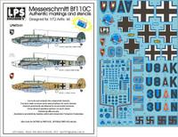 LPS Hobby Luftwaffe Messerschmitt Bf 110C Decals 1/72