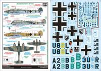 LPS Hobby Luftwaffe Messerschmitt Bf 110C Decals 1/48
