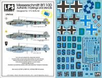 LPS Hobby Luftwaffe Messerschmitt Bf 110D Decals 1/72