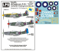 """LPS Hobby North American P-51 """"British Camouflaged Mustangs"""" 1/72"""