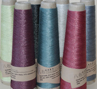 Linen and stainless steel yarn