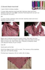 Habu kerchief. Download the free pattern.