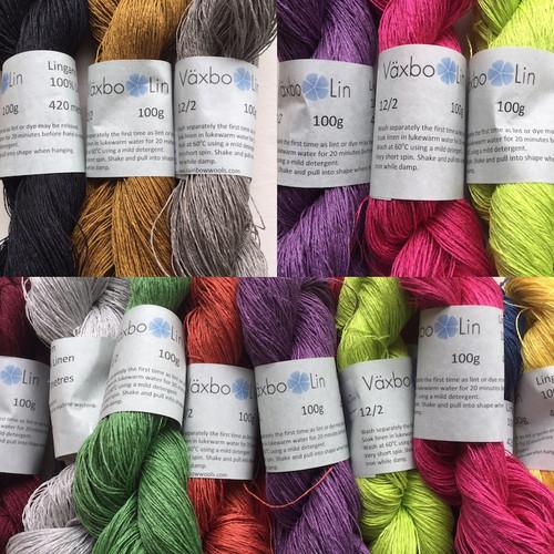 Vaxbo Lingarn. Gorgeous range of colours