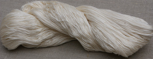A heavier weight mulberry silk yarn. Suitable for weaving, knitting, kumihimo, scrumbling. Dyes beautifully