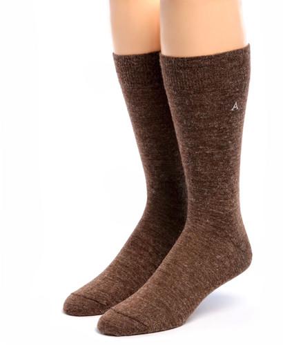 Trouser Alpaca Socks Front Walnut