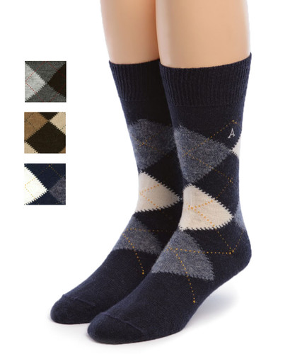 Baby Alpaca Argyle Socks Showing color options