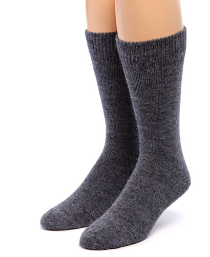 Outdoor Terry Lined Alpaca Socks Front