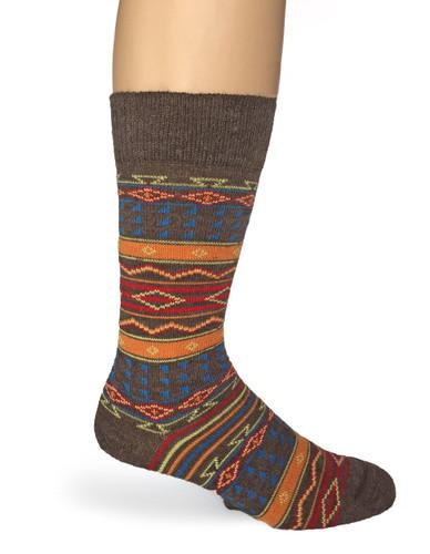 Tribal Alpaca Socks  Side