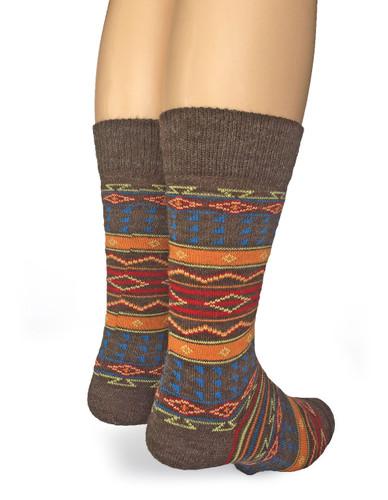 Tribal Alpaca Socks  Back