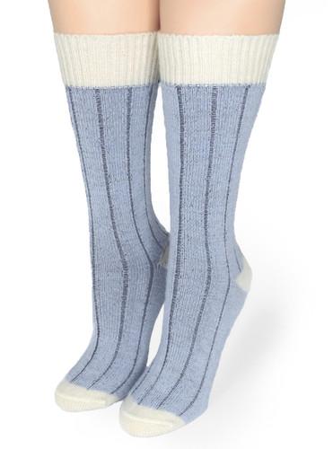Color Block Baby Alpaca Comfort Socks Front
