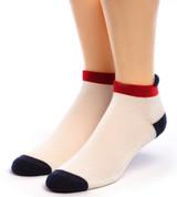 All American Alpaca Sports Socks - Anklet Roll Tab Front