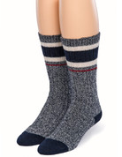 Old School Athletic Striped Socks - Front