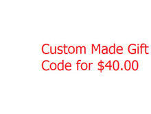 Gift card for custom made product