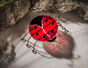 Fused Glass Ladybug