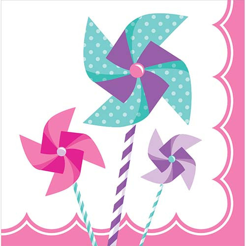 Turning One Girl 2-Ply Lunch Napkins
