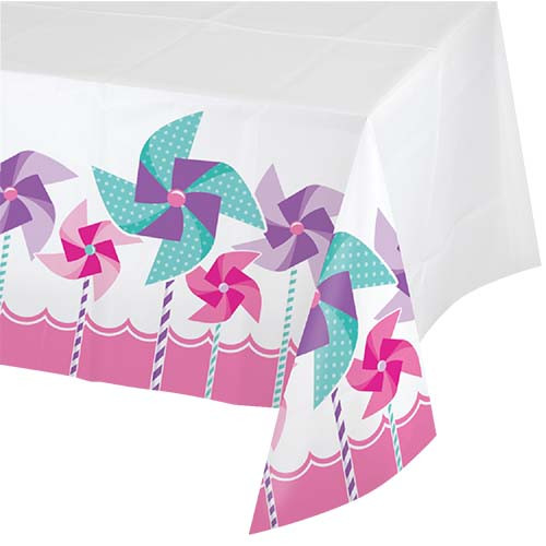 Turning One Girl Plastic Tablecover