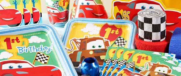 Disney Cars 1st Birthday Party Supplies For First Birthday Themes at ...