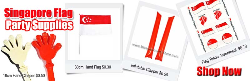 Singapore Flag Party Supplies