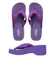 Grape Wedge - Purple Wedge Flip-Flops