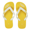 Lemon - Yellow/White Flip Flops