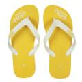 Lemon - Yellow/White Flip Flops