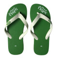 Kiwi - Green/White Mens Flip-Flops