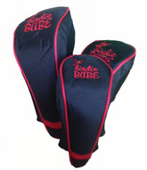 Black with Red Golf Club Head Covers