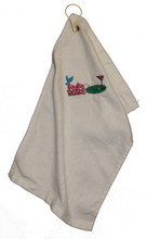 Birdie Babe White Golf Towel