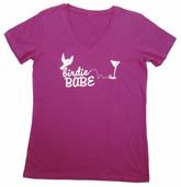 Birdie Babe V-neck Tshirt Pink