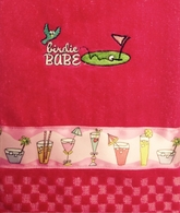 Strawberry Margarita Hot Pink Golf Towel