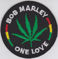 Bob Marley One Love...Embroidered Patch
