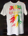 Jah Rock : Reggae Music White - T Shirt