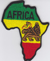 Embroidered Patch...Africa Map &amp; Lion