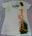 Jah Rock : White - Women's T Shirt