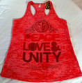 Jah Rock : Peace, Love & Unity - Women's T Shirt (Tank Top Style)