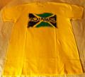 Jamaica Flag : Gold - T Shirt