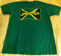 Jamaica Flag : Green - T Shirt
