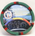 Afro Beaded Steering Wheel Cover : Red, Green & Black