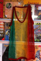 Rasta Mesh Vest Tank Top - T Shirt (Red, Green & Gold)