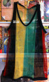 Rasta Mesh Vest Tank Top - T Shirt (Black, Red, Green & Gold)