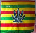 Rasta Stripe - Weed Leaf : Handkerchief, Headwrap, Bandana