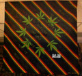 Rasta Stripes - One Love Weed Leaf : Handkerchief, Headwrap, Bandana