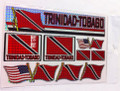 Trinidad & Tobago - Flag Stickers : Set Of 9 Different Sizes