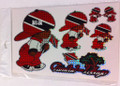 Trinidad & Tobago - Rude Boy Flag Stickers : Set Of 5 Different Sizes