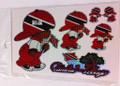 Trinidad & Tobago - Rude Boy Flag Stickers : Set Of 5 Different Sizes